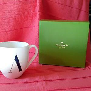 Kate Spade mug it's personal letter A NIB by Lenox